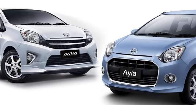 Mobil Toyota Agya dan Mobil Daihatsu Ayla